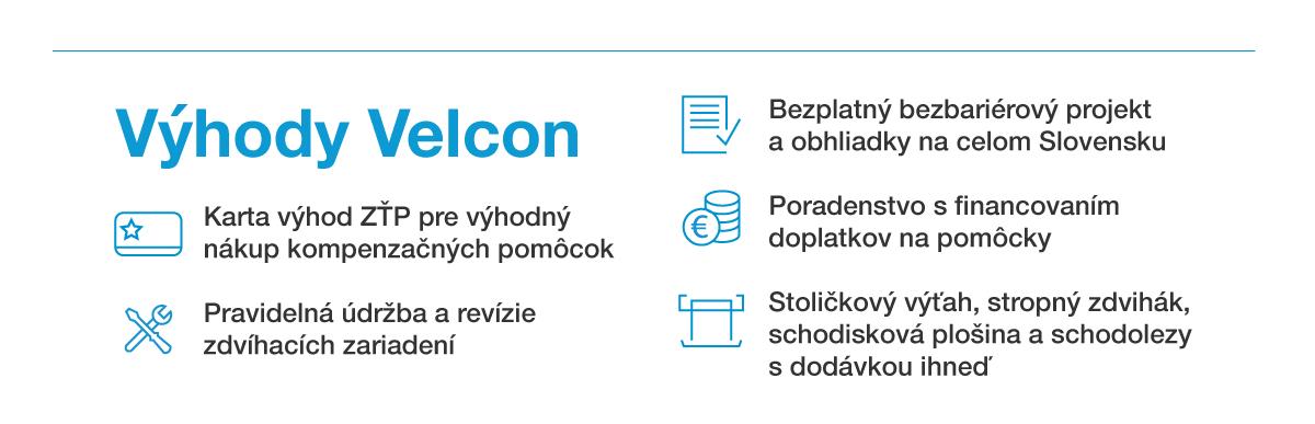 Výhody Velcon