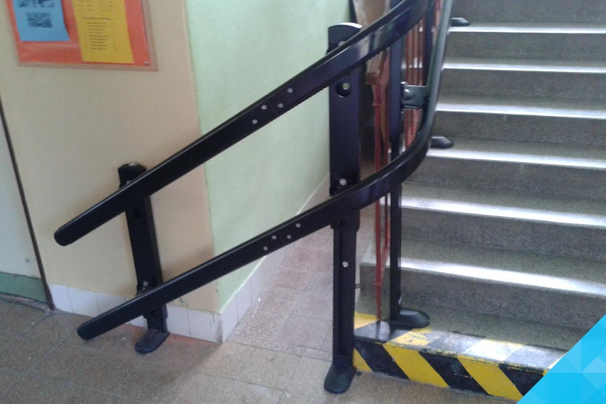 Šikmá schodisková plošina - Ukážka zákruty