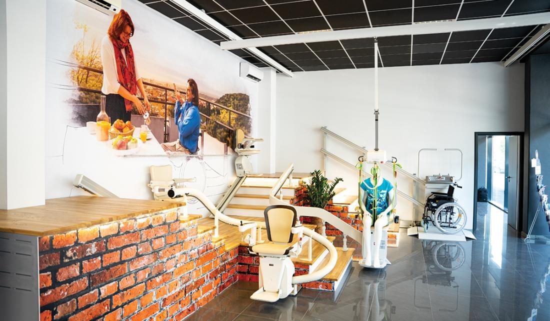 Domáce a schodiskové výťahy - Bratislava Showroom