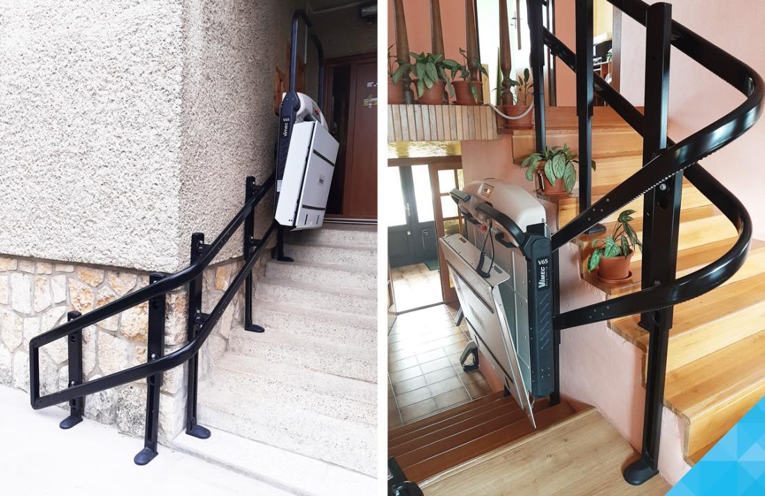Šikmá elektrická schodisková plošina V65