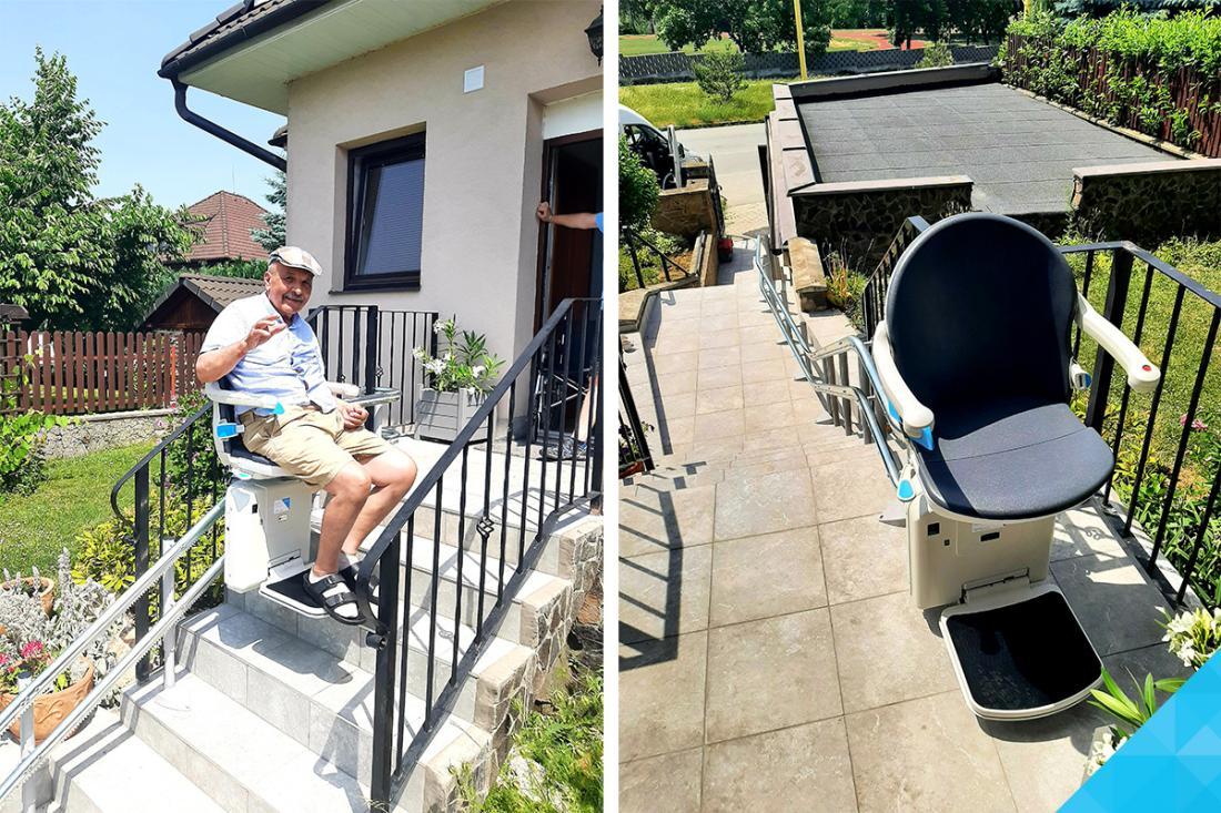 Elektrický stoličkový výťah Minivator