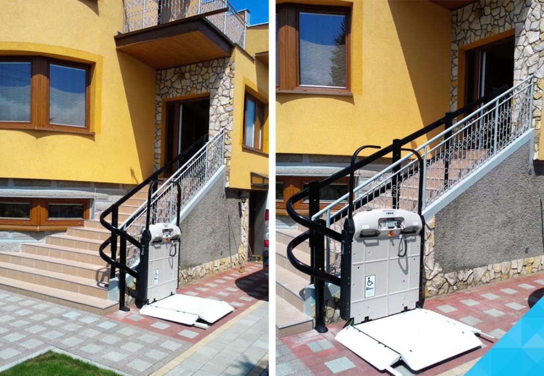 Šikmá schodisková plošina pre imobilných - Velcon