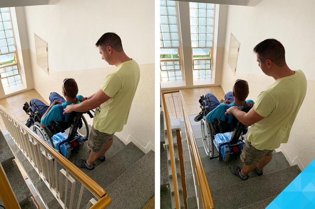 Pásový schodolez pre imobilných